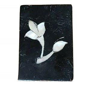VTG Black Stone, Marble Trinket, Jewelry Box + Sma